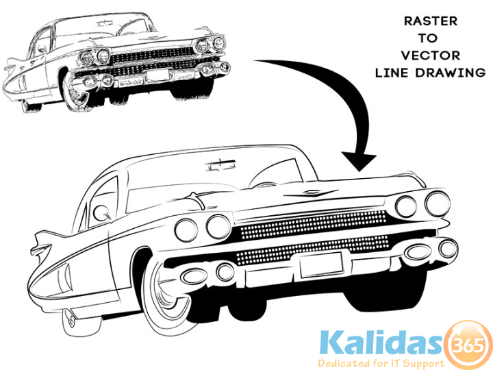 1959_cadillac_sketch_raster-to-vector-line-drawing