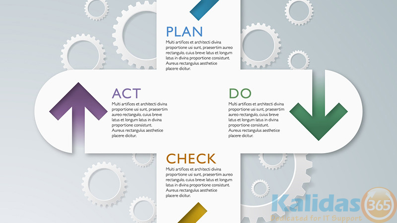 Infographics Vector Background PDCA