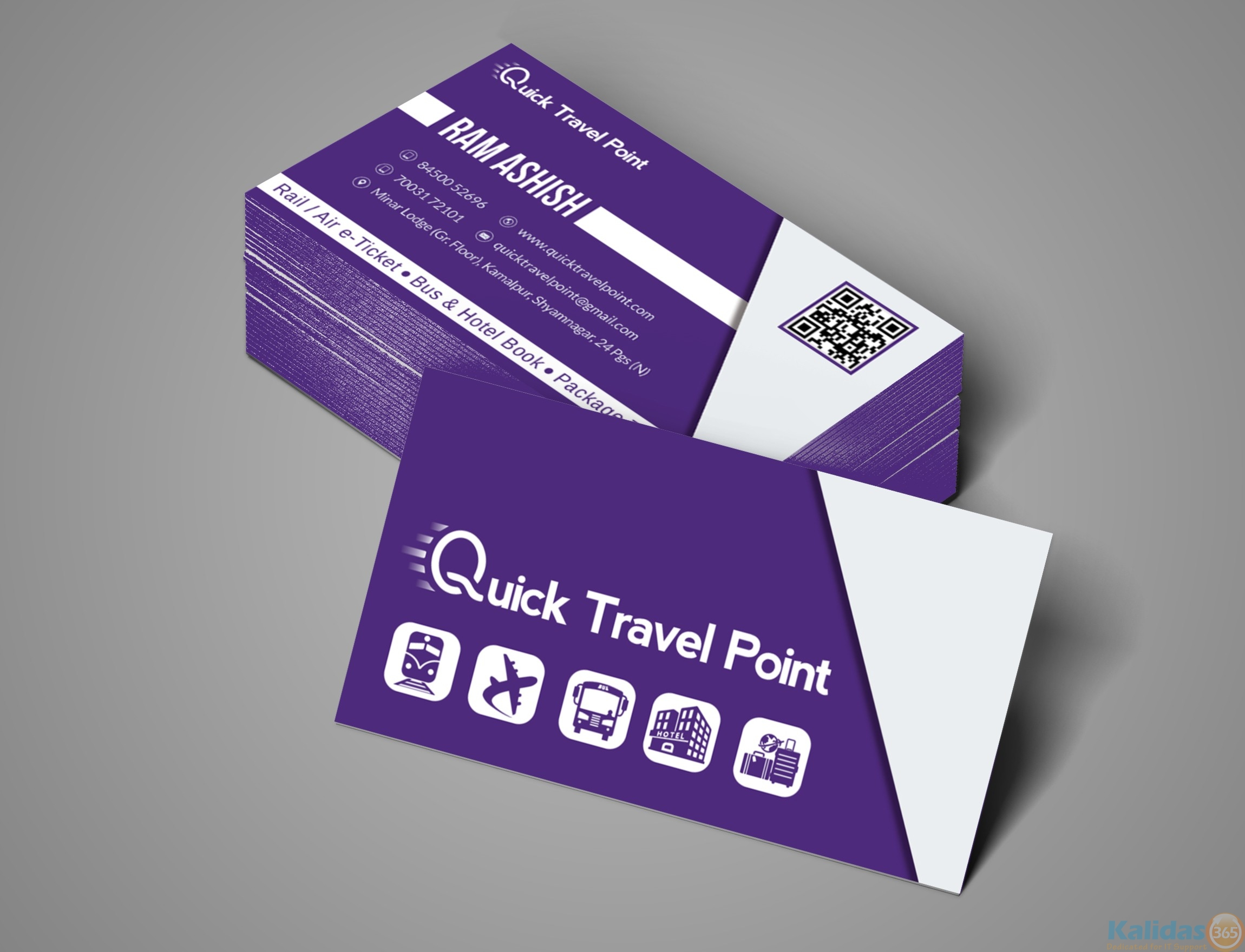 Business card for quick travel point kalidas365 it solutions business card for quick travel point reheart Image collections