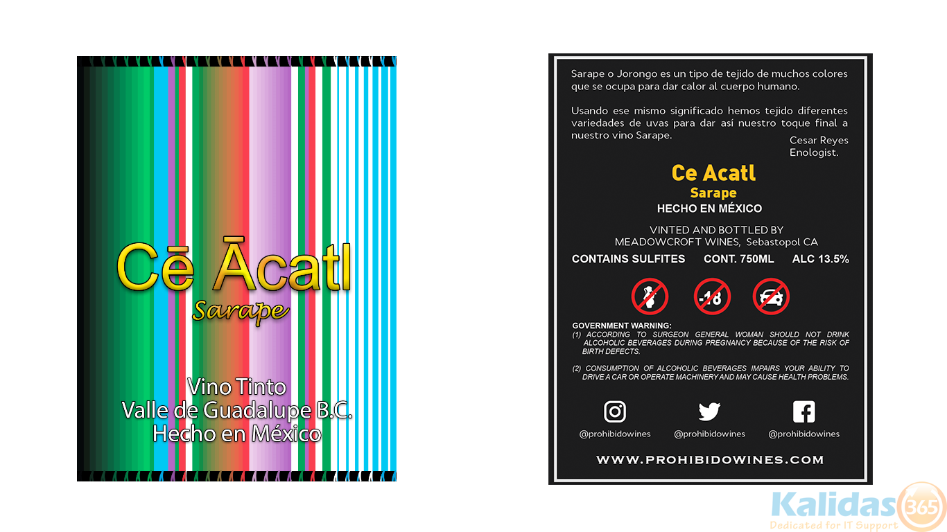 Ce Acatl - Front and back - 3in x 4in