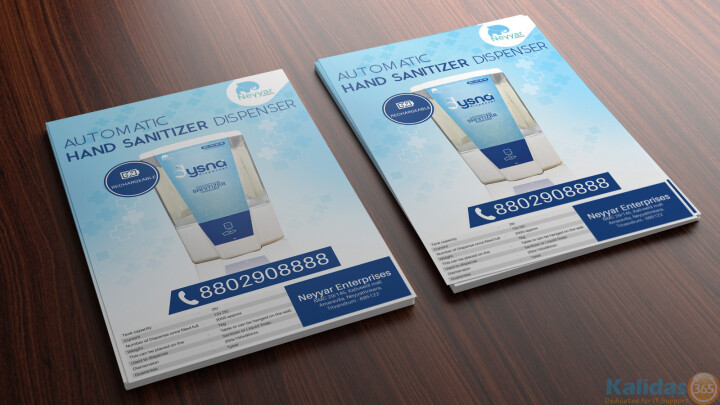 Sanitizer flyer